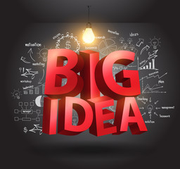 Big idea concept with drawing charts and graphs business