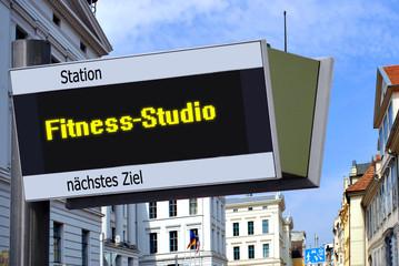 Anzeigetafel 7 - Fitness-Studio