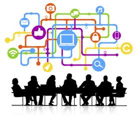 Social Media Connection Internet Network Technology Concept