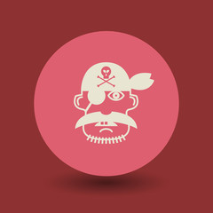 Pirate icon or sign, vector