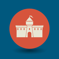 Castle icon or sign, vector