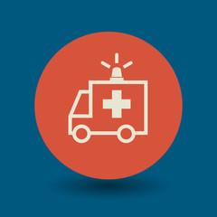 Ambulance car symbol, vector