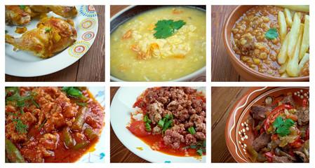 Food set oriental cuisine.