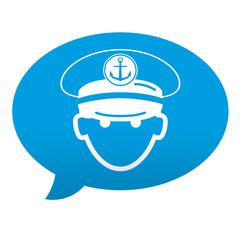 Etiqueta tipo app comentario capitan de barco