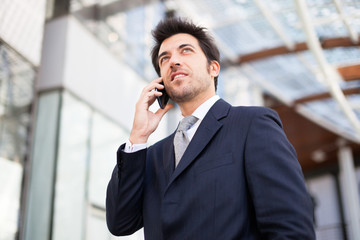 Businessman talking on the phone
