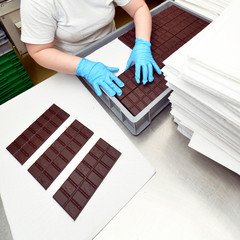 Produktion in Schokoladenmanufaktur // chocolate manufactory