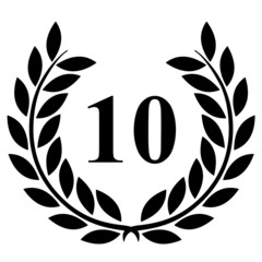 Lauriers 10 sur fond blanc