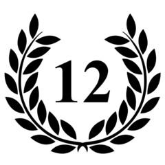 Lauriers 12 sur fond blanc