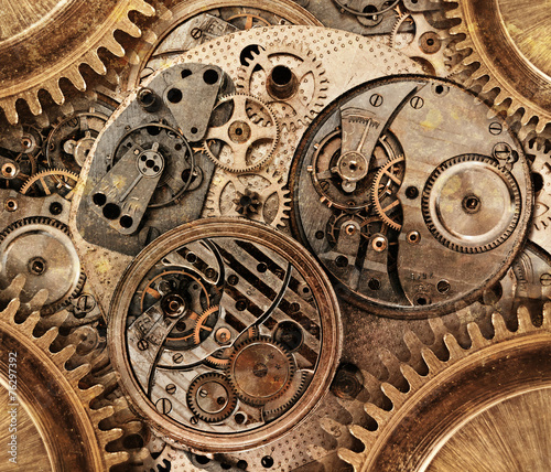 Abstract background. Abstract stylized collage of a mechanical d
