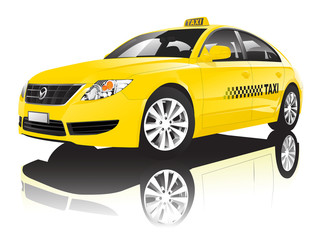Car Cab Taxi Public Shiny Performance Concept