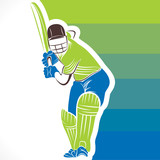 creative cricket banner design vector