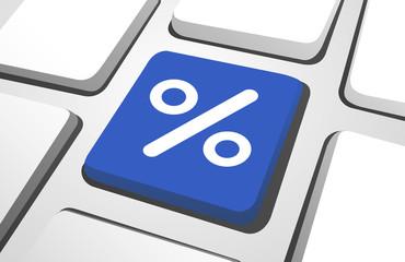 Computer Key : Percentage