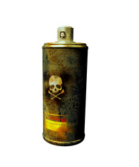 rusty spray can