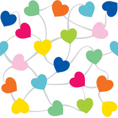 colorful heart shape pattern background vector