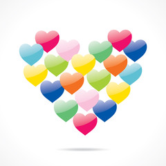 colorful happy valentine day greeting design vector