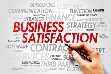 Business satisfaction words cloud concept