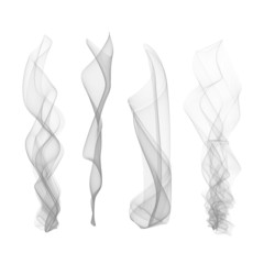 Vector set of smoke effect, smooth, flame,