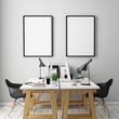 Poster frames template, workspace mock up, background - 76300186