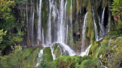 Waterfall in Plitvice Lakes National Park in Croatia