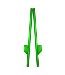 Wooden stilts in green design