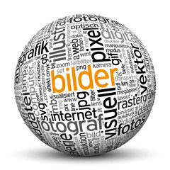 Kugel, Bilder, Tags, Word Cloud, Text Cloud, Keywörter, Sphere