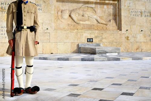 Deurstickers Athene Evzoni Guard