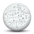 canvas print picture - Kugel, Mathematik, Icon, Symbol, Math, Sphere, 3D, Formeln, Uni