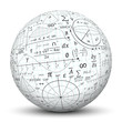 Leinwanddruck Bild - Kugel, Mathematik, Icon, Symbol, Math, Sphere, 3D, Formeln, Uni