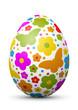 Leinwanddruck Bild - Osterei, Ei, Ostern, Schmetterlinge, farbig, bunt, Easter, Egg