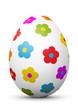 Osterei, Ei, Ostern, Blumen, farbig, bunt, Easter, Egg, Flower