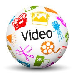 Kugel, Video, Icon, Symbol, Entertainment, Sphere, 3D, Ball