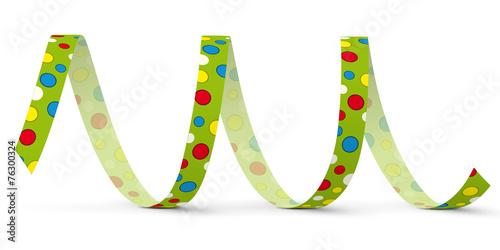 Foto op Canvas Spiraal Luftschlange, Papierschlange, Spirale, Dekoration, Deko, Party