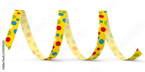 Foto op Plexiglas Spiraal Luftschlange, Papierschlange, Spirale, Dekoration, Deko, Party