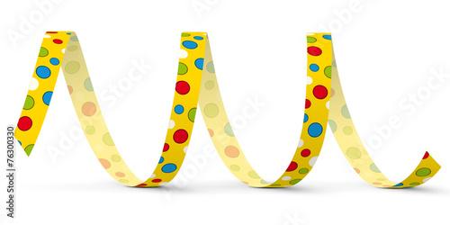 In de dag Spiraal Luftschlange, Papierschlange, Spirale, Dekoration, Deko, Party