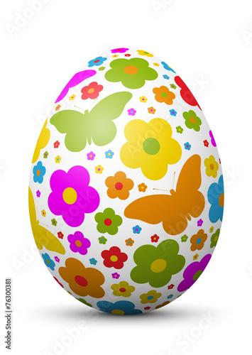 Leinwanddruck Bild Osterei, Ei, Ostern, Schmetterlinge, farbig, bunt, Easter, Egg