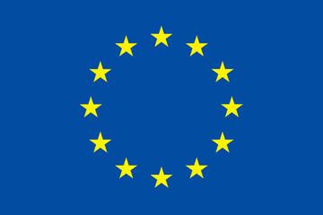 European union flag. Original proportion and colors. EU symbol.