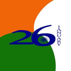 Elegant Indian flag theme background of Happy Republic day.