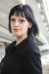Girl in Krasnodar concrete jungle