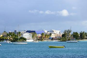 Africa, great bay coast in Mauritius Island
