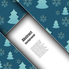 Brochure template with winter background.