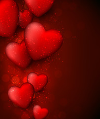 Valentine's red background.