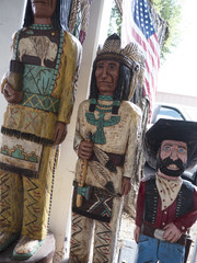 Statues of Western figures in the Old Town of Scottsdale Arizona
