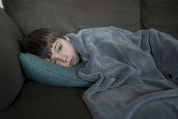 boy with flu