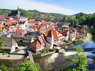 town Cesky Krumlov (UNESCO), South Bohemia, Czech republic