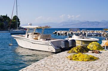 Port in Kassiopi village - Corfu, Greece