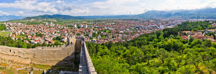 Ohrid from old castle, Macedonia