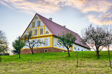 House with little orchard