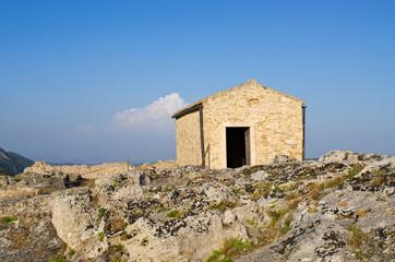 Old chapel on Angelokastro castle - Corfu, Greece