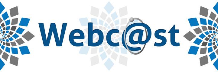 Webcast Blue Grey Square Elements
