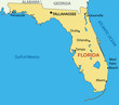 Florida - vector map